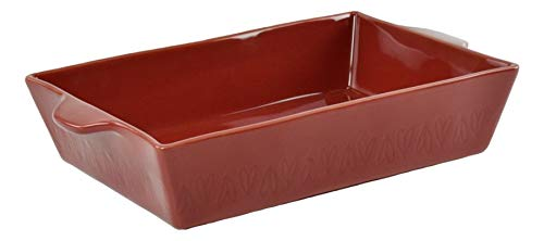 Ayesha Curry Home Collection Stoneware Rectangular Baker, 9 X 13 Sienna Red