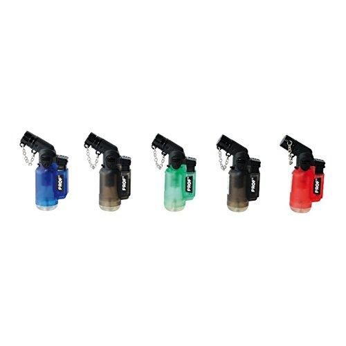 Prof 40803680 - Lote de 5 mecheros, llama azul, electrónicos, recargables, diseño...