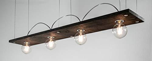 Lumières de juge à LED Bauhaus Pro100 avec chêne brossé et ampoule à filament Globe 6 W Transparent/intensité non variable