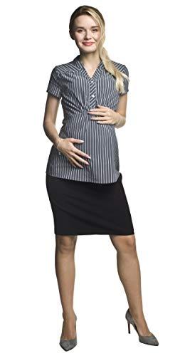 Torelle Rock für Schwangere, Knielang, Modell: Casual, schwarz, L