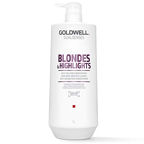 Goldwell Dualsenses Blondes & Highlights Anti Yellow Conditioner, 1er Pack (1 x 1 l)