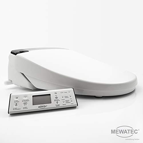 MEWATEC Marken Dusch-WC Aufsatz E900 Bidet Toilettensitz Preis-Leistungs-Sieger inkl. 4x Kalkschutzfilter