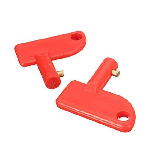 C-FUNN Mini Batterie Trennschalter Auto Schalter Ersatzschlüssel für Marine Auto Boot Truck