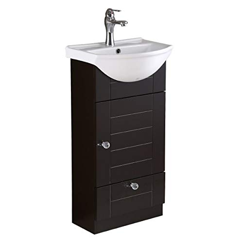 Mahayla 17 3/4' Small Cabinet Vanity Bathroom Sink...