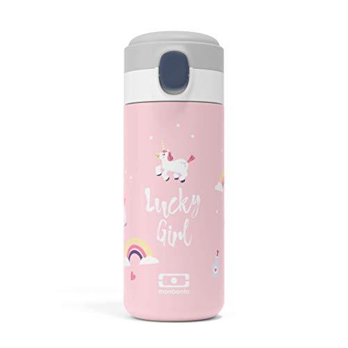 monbento - Edelstahl Trinkflasche BPA frei - Thermosflasche (Isotherme Sportflasche, graphic Unicorn)