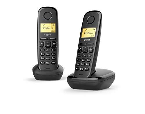 TELEFONO DECT GIGASET A170 Duo Negro