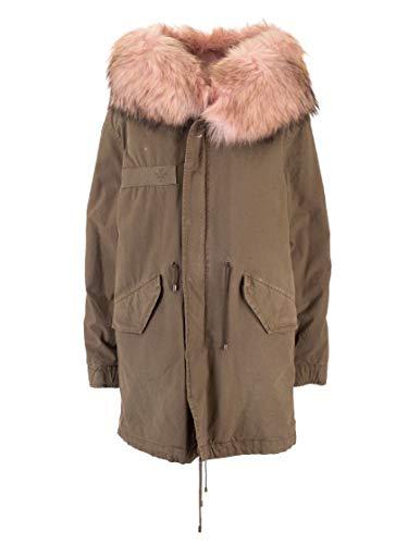 MR&MRS ITALY Luxury Fashion Damen XPM0125375304 Grün Baumwolle Mantel | Herbst Winter 19