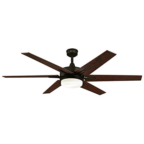 Westinghouse Lighting Oil Rubbed Bronze, Remote Control Included 7207800 Cayuga 60-inch Indoor Ceiling Fan, Dimmable LED Light Kit with Opal Frosted Glass