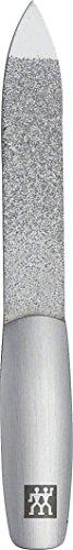 ZWILLING TWINOX Saphir Nagelfeile, Formfeile Doppelseitig aus Edelstahl für Perfektes Feilergebnis aus Mattiertem Edelstahl, 90 mm
