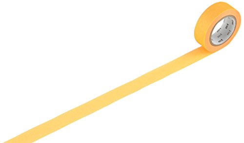 MT Kamoi Kakoshi KMMT-MKT1PB-AH Materialband, japanisch, 2 Stück, recyceltes Papier, Klebeband aus Pflanzenfasern, 1000 x 1,5 cm, Orange