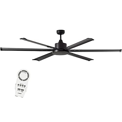 Martec Albatross - Ventilador de techo (bajo consumo, 214 cm), color negro