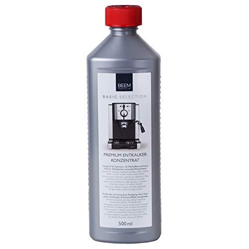 BEEM Premium Entkalkerkonzentrat | zur Entkalkung von BEEM Filterkaffeemaschinen, Samoware und Teekocher und anderer Hersteller [500 ml]