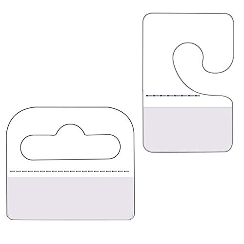 Hang Tabs - Confezione da 120 ganci flessibili con angoli appuntiti, con foratura europea per parete forata, Euro Loch gancio Hang Tabs autoadesivo, colore: trasparente