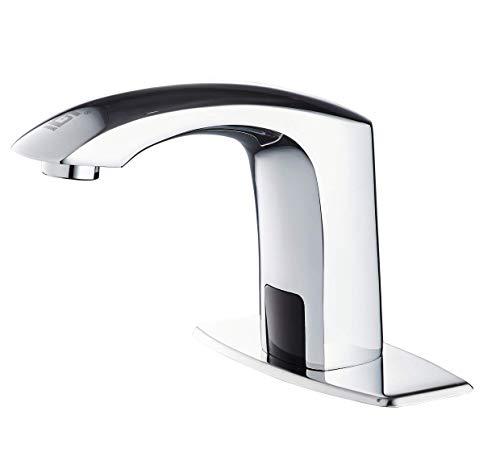 Gangang Infrarot Sensor Wasserhahn Berührungsloser Automatischer Wasserhähne aus Hochwertigem Massivem Messing Widersteht allen Arten von Korrosion Wasserhahn Mit Heiß- und Kaltwassermischventil.