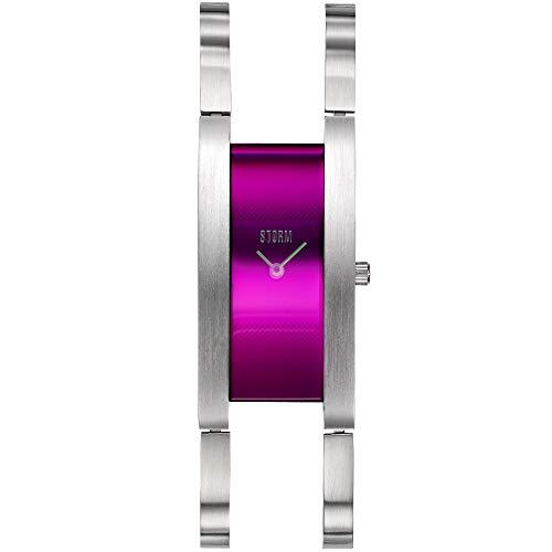 STORM London Zatya Lazer Purple, Damenuhr, Edelstahlgehäuse, 3 bar Wasserdicht, Analoguhr, Mineralglas, 47451/P