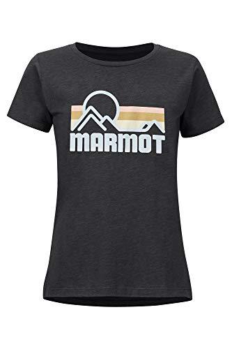 Marmot Wm's Coastal Tee SS Haut à Manches Courtes, T-Shirt d'extérieur, Idéal pour Les Sports, Gym, Sèche Rapidement, Respirant Femme New Charcoal Heather FR: M (Taille Fabricant: M)