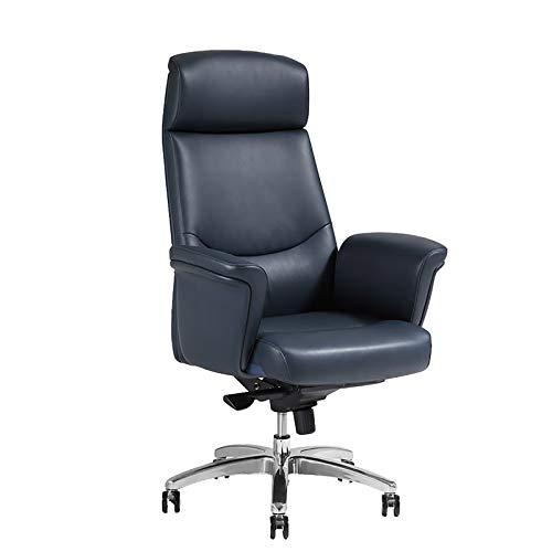 DEMAXIYA Sillas para computadora y sillas de Oficina de Cuero Artificial, sillas giratorias ergonómicas, sillas ejecutivas con reposabrazos