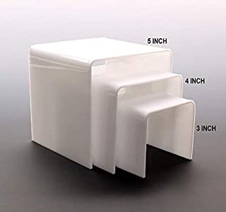 SIGNOOGLE Acrylic Cute Jewellery Show Case Display Stand Functional Shoe Storage Racks Cosmetics Holder for Exhibition 3mm...