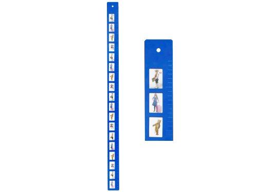 JIP Mètre de Croissance - Passphoto Frame - Métal - Bleu