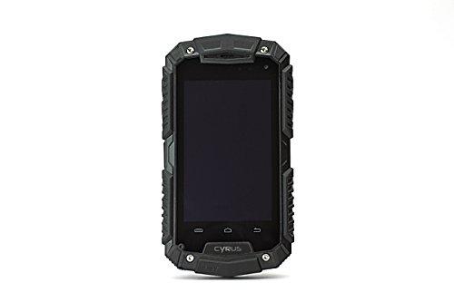 CYRUS 116702 wasserdichte, staubgeschützte CS20 Outdoor Smartphone (IP67 zertifiziert, Dual-SIM, 5 Megapixel Kamera, Videoaufnahme, MP3 Player, PTT Funktion, Google+, GPS Sender) schwarz