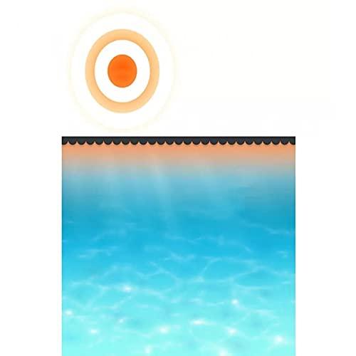 Cikonielf Pool Solarfolie Rund, 1000x500 cm PE Winterabdeckplane Poolabdeckung Runde Solarfolie Poolheizung Abdeckplane Pool Rund