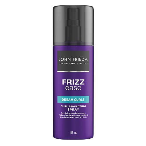 John Frieda Frizz Ease Dream Curls Spray, Daily Styling Spray, Magnesium-enriched Formula, Revitalizes Natural Curls, 198 ml