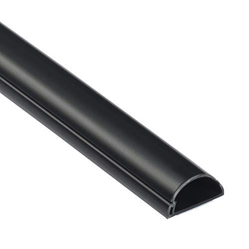 D-Line 1M3015B Mini Kabelkanal zur Kabelführung | Kabelleiste - 30x15 mm, 1 m Länge - Schwarz