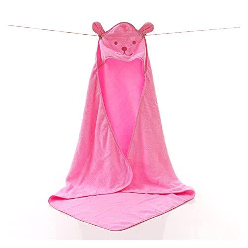 GKXAZ Toalla de bebé Baño recién Nacido Cómodo Suave bebé con Capucha de Albornoz (Color : Pink)
