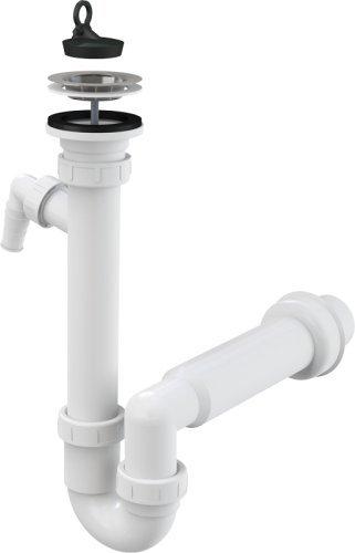 Spültisch Siphon Rostfreies Gitter DN 70 Anschlussrohr DN 50 mit Anschluss an Spülmaschine WaschmaschineAblaufgarnitur Ablauf Spülbecken Spüle Geruchsverschluss