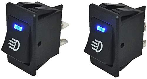 Preisvergleich Produktbild HOTSYSTEM 12V 35A Auto KFZ Schalter für Nebelscheinwerfer Scheinwerfer Wippschalter Ein- / Ausschalter Blau LED beleuchtet Wechsel Switch Kippenschalter 4 Polig