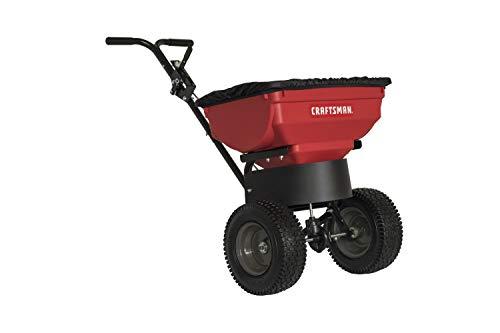 Craftsman CMXGZBF450532DL 85Pound Push Broadcast Spreader Red/Black