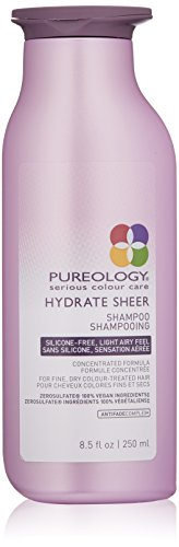 Pureology Hydrate Sheer Nourishing Shampoo | For Fine, Dry Color Treated Hair | Vegan | 8.5 oz.