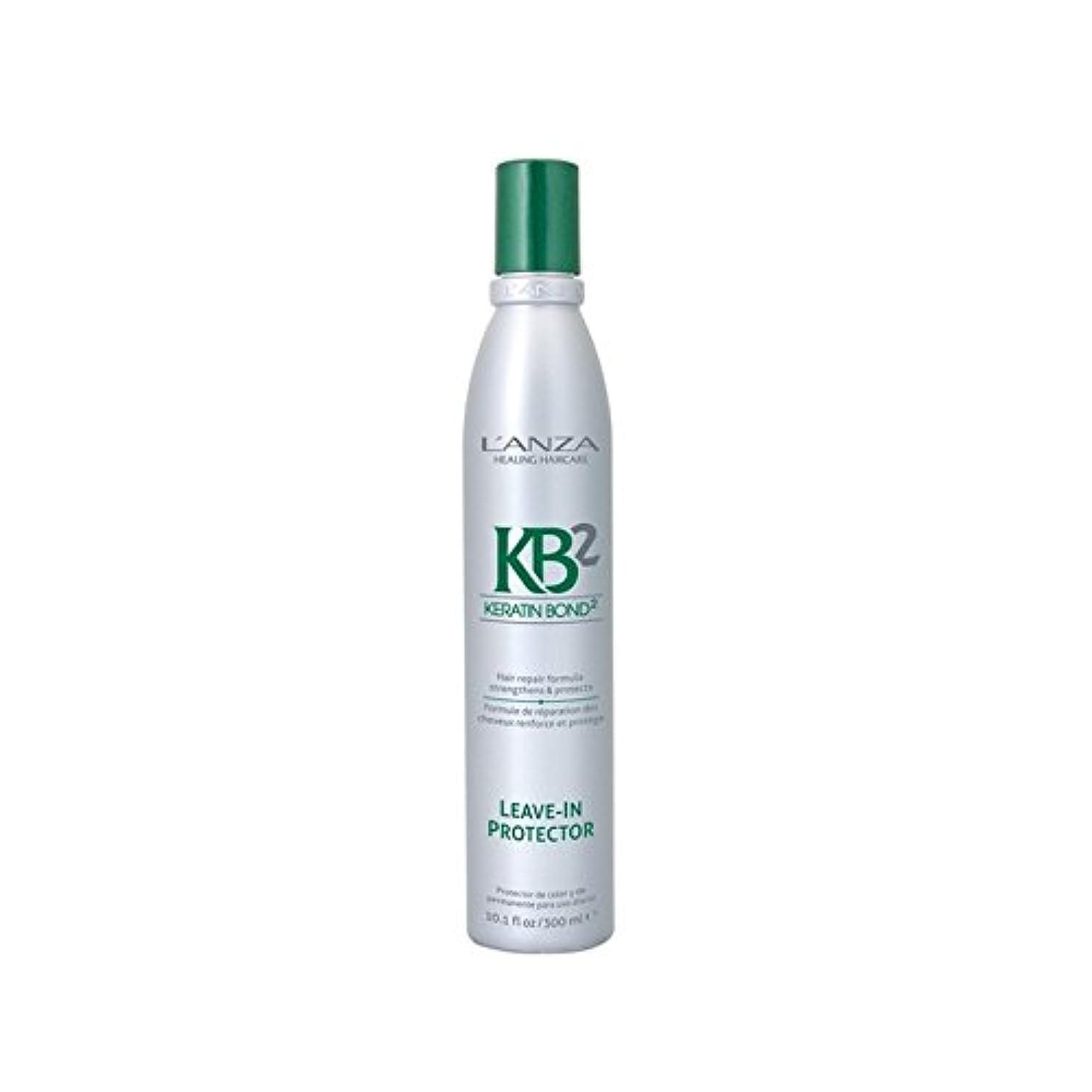 調停者問い合わせくしゃくしゃアンザはプロテクターヘアトリートメント(300ミリリットル)に残し2 x4 - L'Anza Kb2 Leave In Protector Hair Treatment (300ml) (Pack of 4) [並行輸入品]