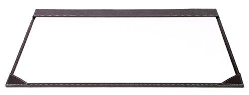 Osco BPUDM1 Luxus Faux Leder, Schreibtischzubehör und Ablage, braun