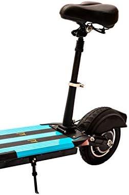 Aurotek seaty Asiento Patinete Compatible con Xiaomi, Construido en Aluminio Resistente, Patin electrico, Negro, Grande