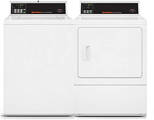 Speed Queen Top Load SWNNY2SP115TW01 26' Washer with Front Load SDGNYRGS113TW01 27' Gas Dryer Commercial Laundry Pair in White