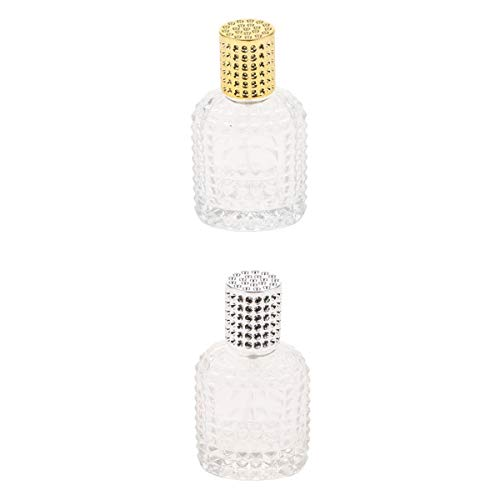 Dolity 2X Glass Refillable Perfume Pump Spray Bottle Fragrance Container 50ml