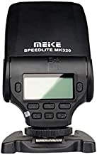 yiji Meike MK320-S Professional TTL Li-ion Battery Flash Speedlite with LCD Display for Speedlite para Sony A58 A77 A7 III A7S A7R A6000 A6500 NEX-6 NEX-5R NEX-5T NEX-3