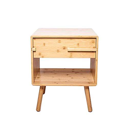 N/Z Armoire de Table de Chevet Living Equipment avec tiroir et étagère de Rangement Table d'appoint Polyvalente à Double Couche pour la Maison