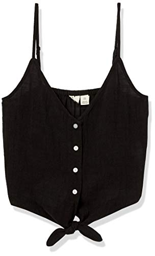 Roxy Junior's Tiny Mutinies Strappy Tank Top, Anthracite, L