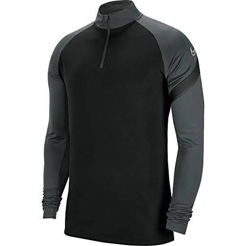 Nike Kids' Academy Pro Drill Top, Black/Anthracite/Black/(White), L