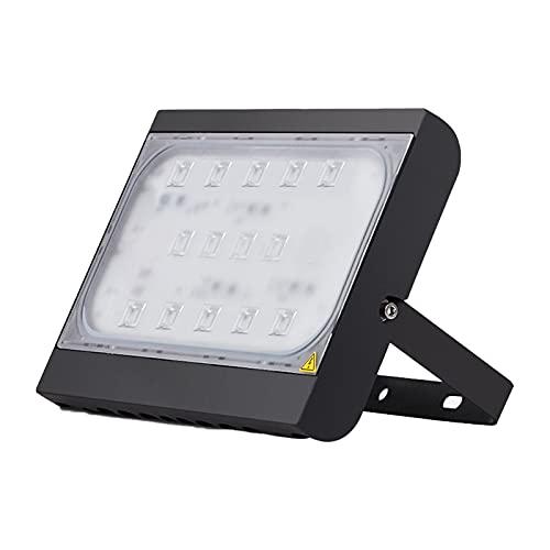 Foco Proyector LED Exteriore Super Brillante 30-150W, Luz De Inundación LED Impermeable Luces De Seguridad Ajustable 180°, Farolas Trabajo LED Blanca Positiva Iluminaci(Size:100W...