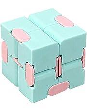 Infinity Cube Fidget leksaker för barn vuxna, söt färgglad kub leksak dekomprimering leksaker tryckreducering stresslindring leksak pedagogiska leksaker fidget klossar fyrkantig kub för vuxna och barn
