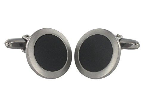 Grom Manschettenknöpfe Onyx Silber