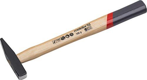 Meister Schlosserhammer - 100 g Kopfgewicht - Robuster Stiel aus Hickoryholz - Stahlgusskopf / Ingenieurhammer / Hammer mit Esche-Stiel / 2215100
