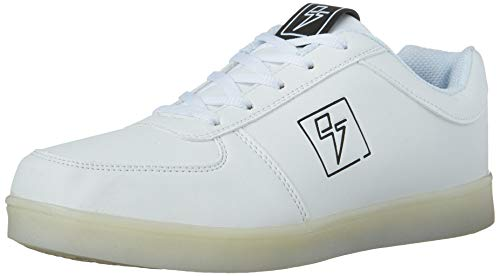 Light Up Shoes - Bolt Low Top, 10 B(M) US Women / 8 D(M) US Men White