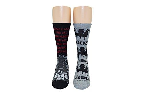 Everything Legwear The Walking Dead Socken für Damen, 2 Paar – Walker Geeks Crew Socks The Walking Dead Store – passend für Schuhgröße 34-10 [Damen]