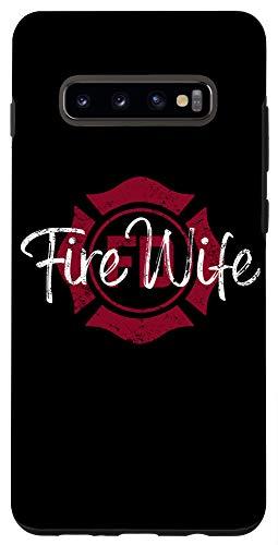 Galaxy S10+ Firefighter Wife Phone Case, Fire Wife, Womens Fireman Wife Case