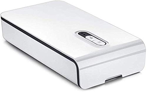 Limpiador de esterilizador para teléfono celular con luz ultravioleta Desinfector de la función de aromaterapia con carga USB para iPhone Android Smart Phone Cepillo de dientes Joyas Relojes,Blanco