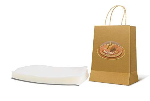 Moretti® | Buste Sacchetti Sottovuoto Alimenti | 50 Buste Goffrate Per Sottovuoto Per Alimenti | Professionali Per La Conserva E La Cottura Alimentare | BPA Free, Approvati FDA